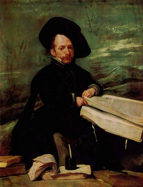 Portrait d'un nain tenant un volume sur ses genoux - Velazquez