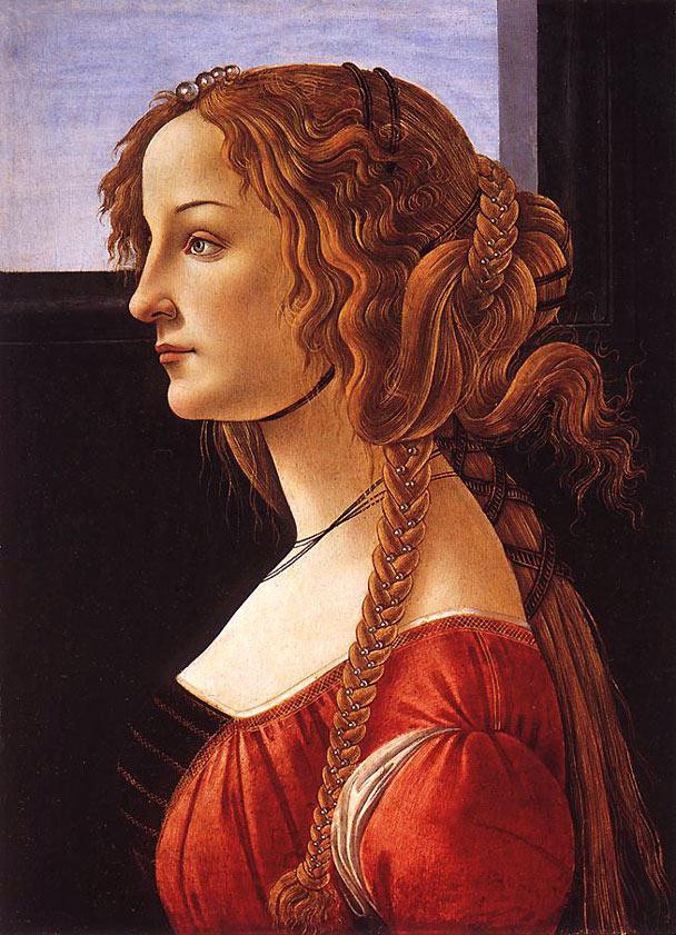 Portrait d'une jeune femme - Botticelli