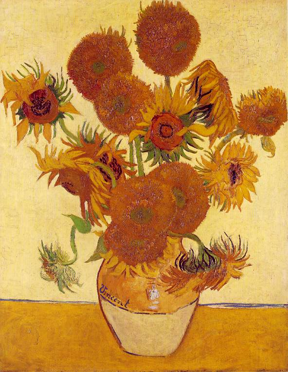 Quatorze tournesols dans un vase - Van Gogh