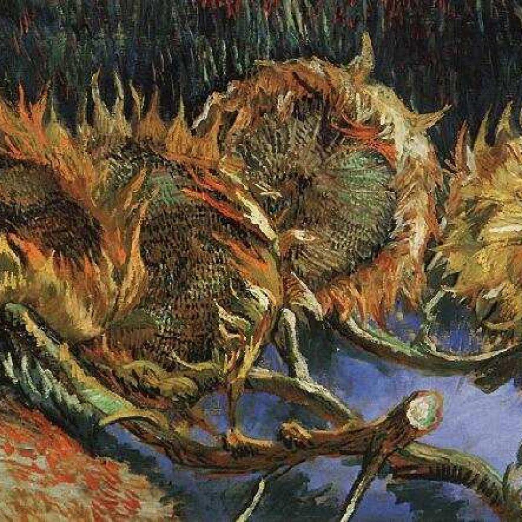 Quatre tournesols coupés - Van Gogh