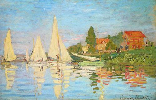 Régates à Argenteuil - Monet
