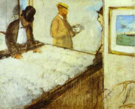 Revendeurs de cotton au New Orleans - Degas