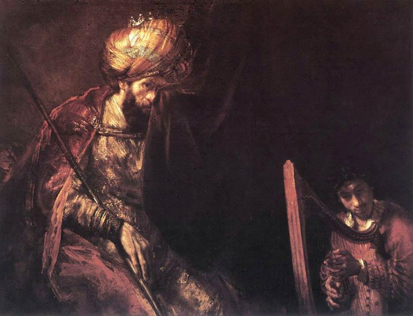 Saül et David - Rembrandt