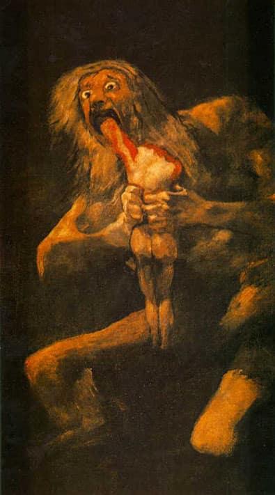 Saturne dévorant un de ses enfants - Goya