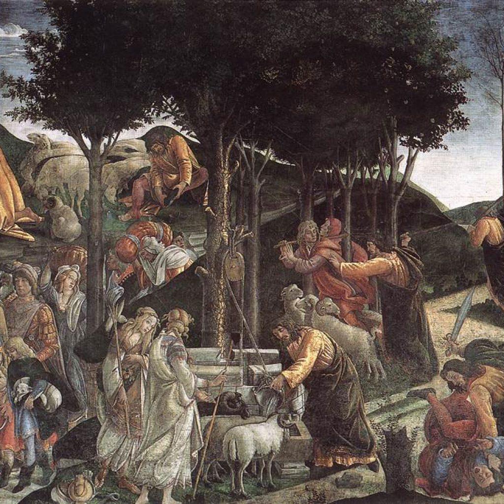 Scène de la vie de Moïse - Botticelli