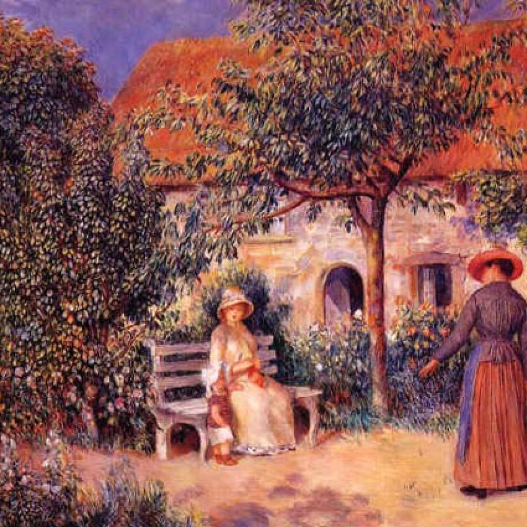 Scène du jardin en Bretagne - Renoir