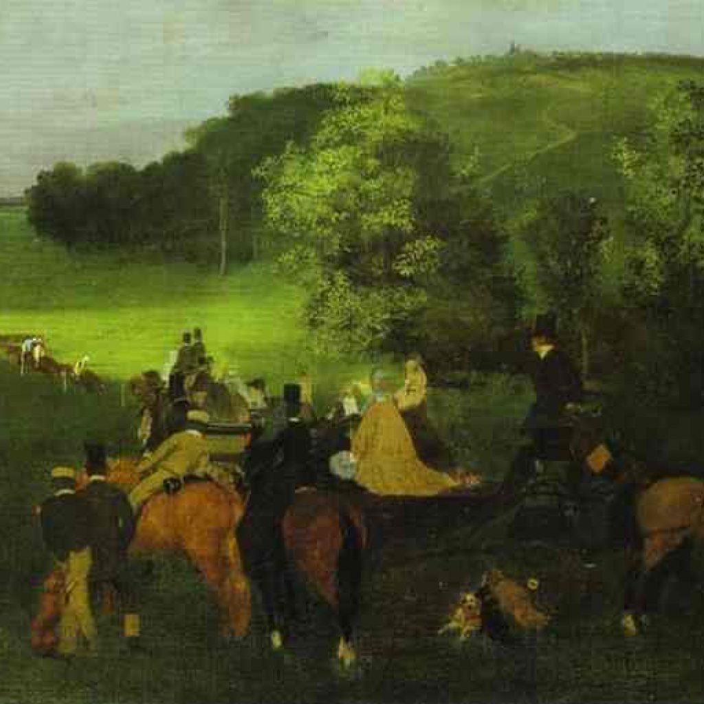 Sur la piste de course - Degas