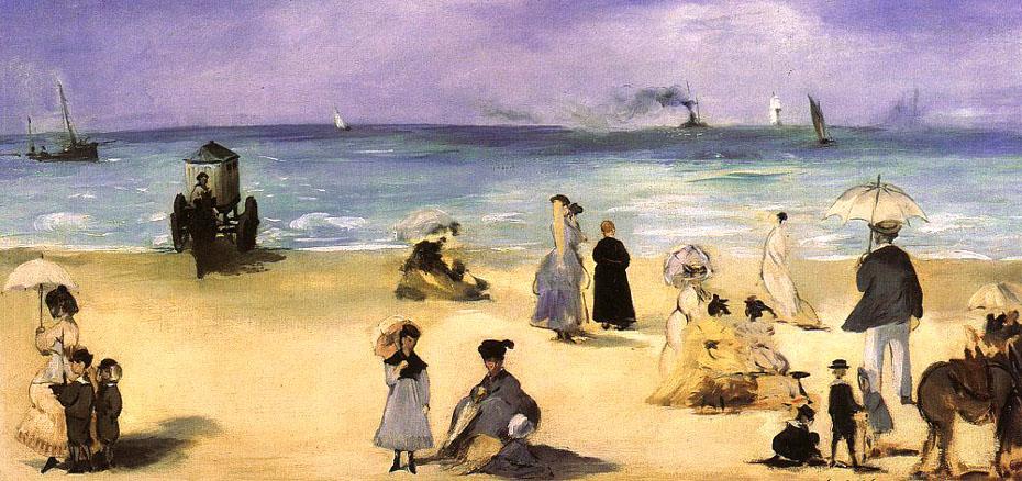 Sur la plage à Boulogne - Manet
