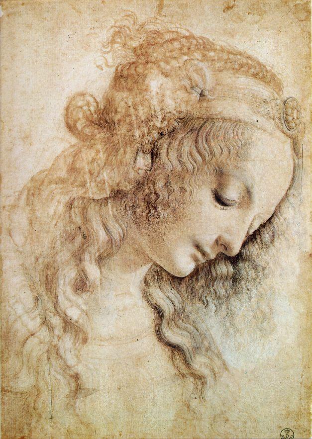 Tête de femme - De Vinci
