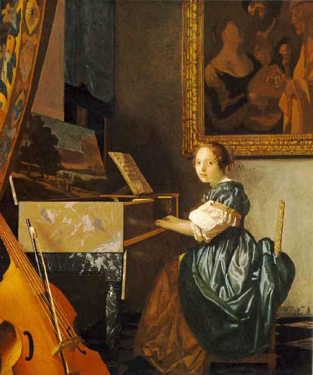 Une dame assise au virginal - Vermeer