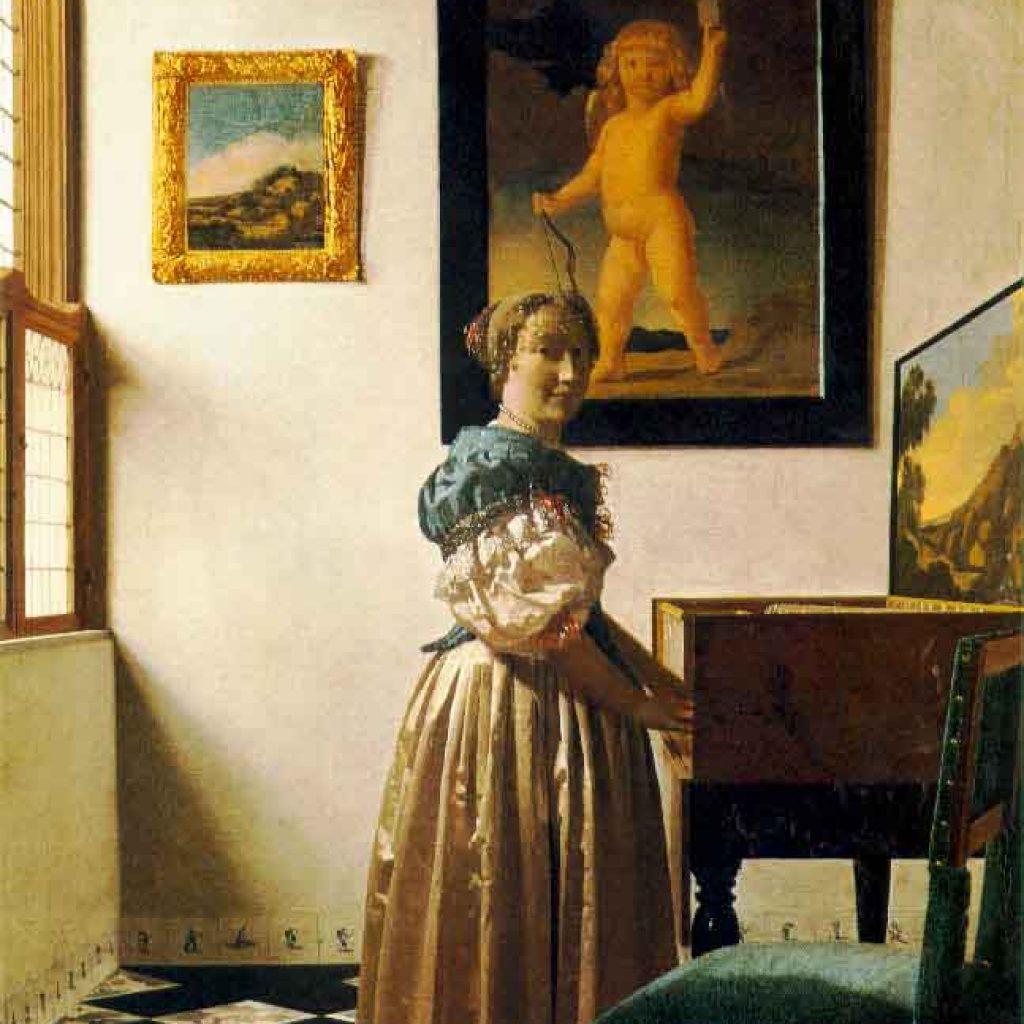 Une dame debout au virginal - Vermeer