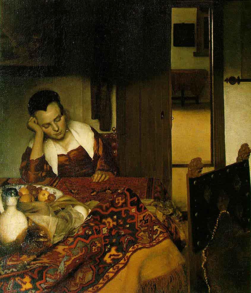 Une jeune femme assoupie - Vermeer