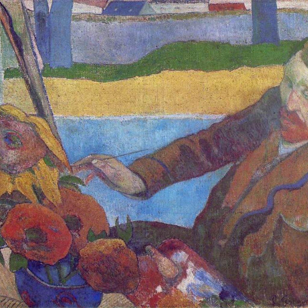 Van Gogh peignant des tournesols - Gauguin