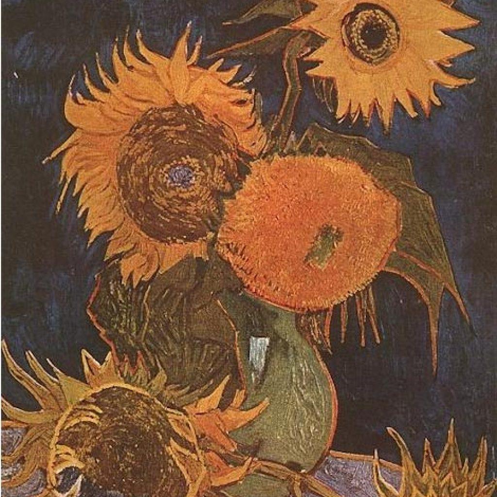 Vase avec cinq tournesols - Van Gogh