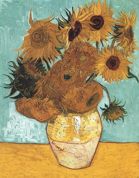 Vase avec douze tournesols - Van Gogh