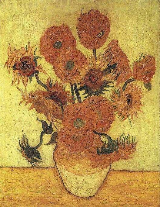 Vase avec quinze tournesols - Van Gogh