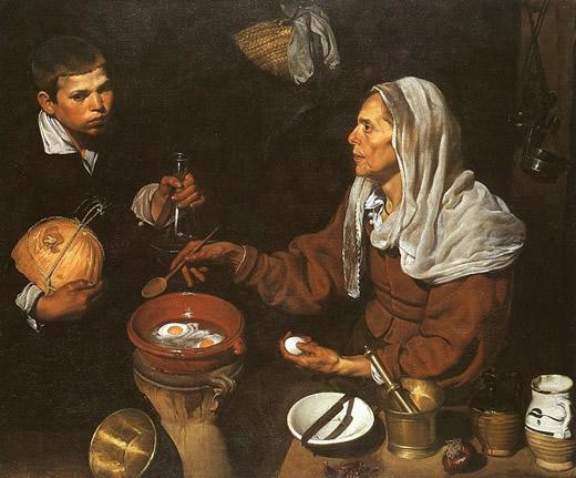 Vieille femme faisant frire des œufs - Velazquez