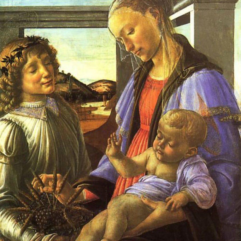 Vierge et enfant avec un ange - Botticelli
