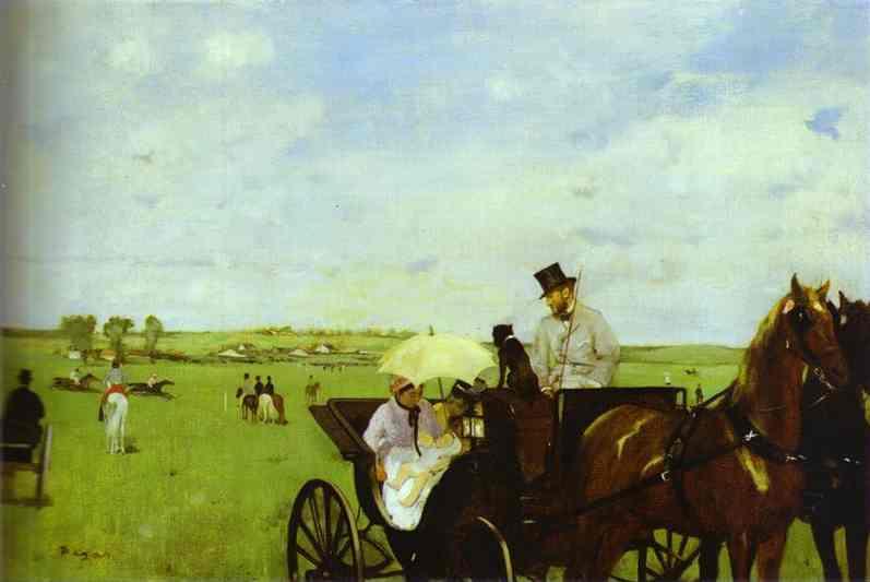 Voiture aux courses - Degas