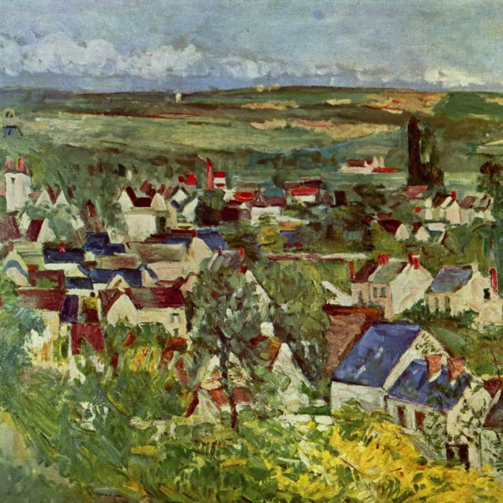 Vue d'Auvers - Cézanne