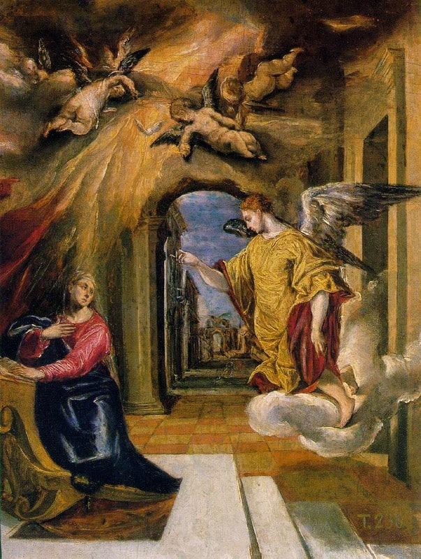L'annonciation - El Greco