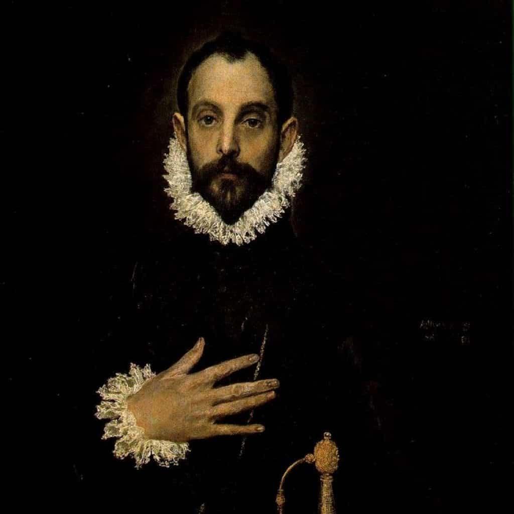 Le chevalier avec sa main sur sa poitrine - El Greco