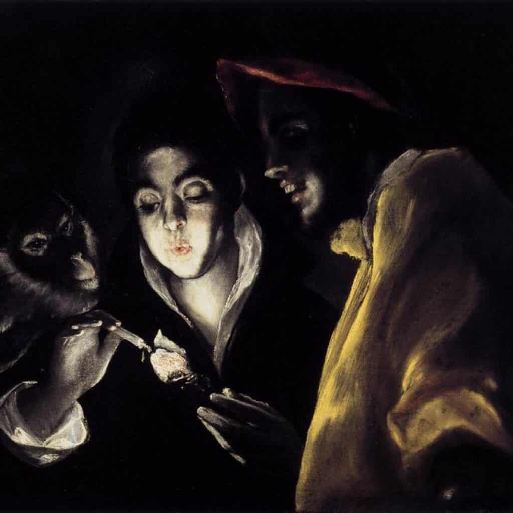 Enfant allumant une bougie - El Greco