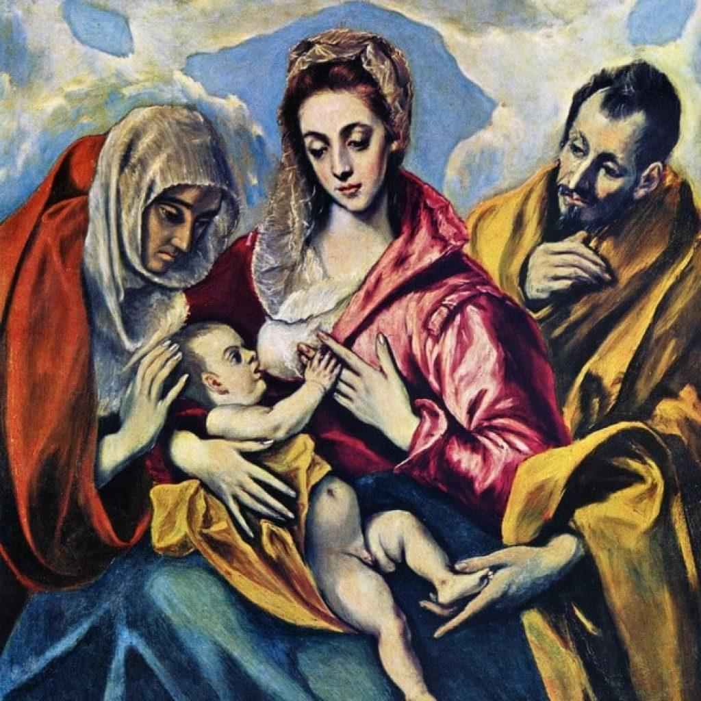 La sainte famille - El Greco