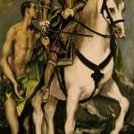 St Martin et le mendiant - El Greco